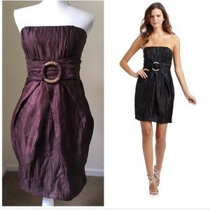 Alexia Admor Brown Strapless Ring Cocktail Dress